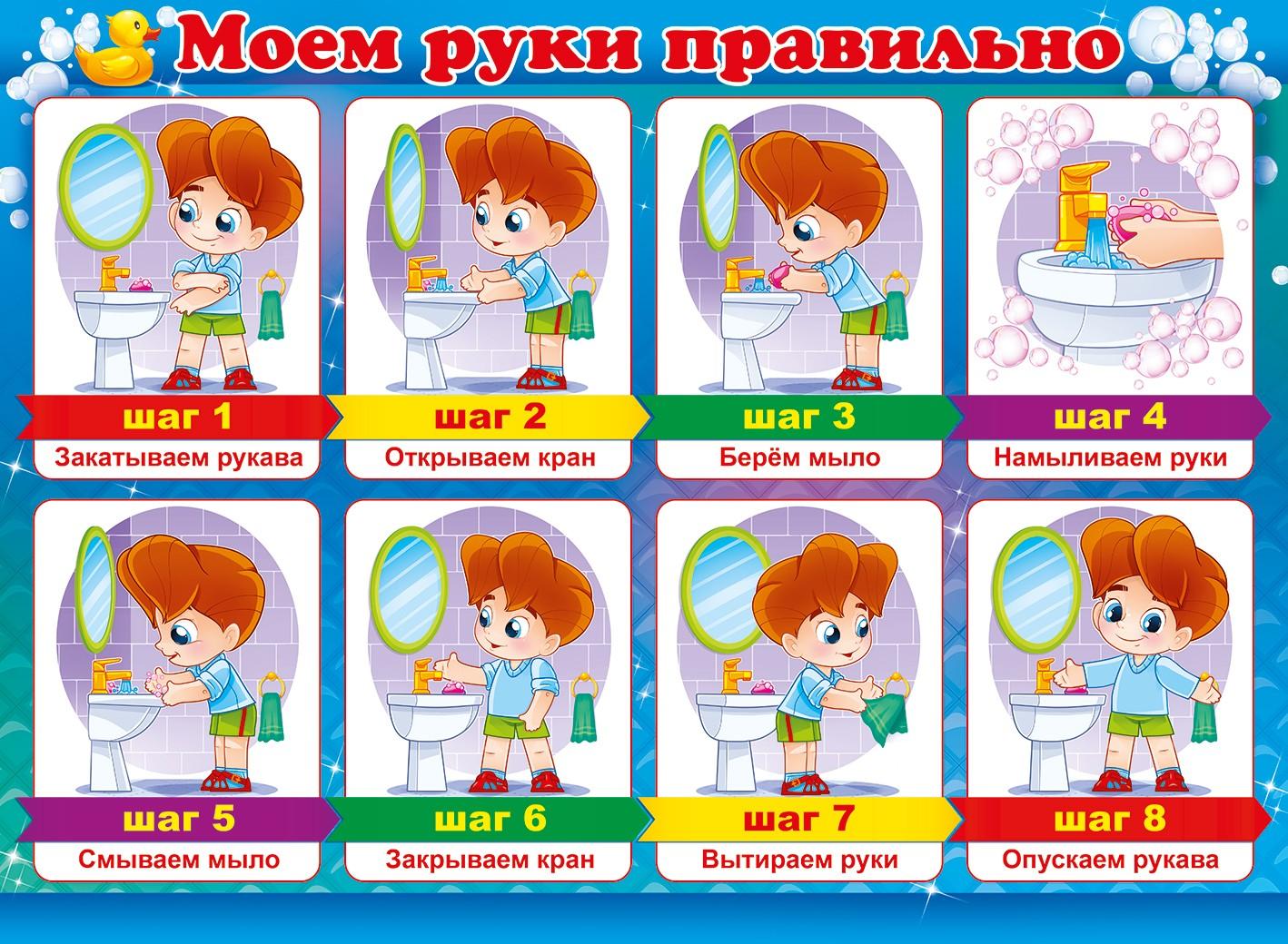 Алгоритм мытья рук своими руками в детском  59